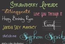 Fonts / by Danette Robinson