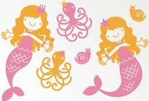 Mermaid Sisters / The board I hope will soon be my toddler and infant's bedroom!  / by Hannah Horsch