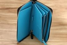 Wallets / Wide selection of bifolds, trifolds, zip-arounds and more! All available for customization! / by StoryLeather.com