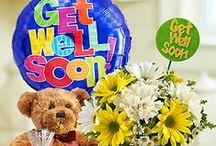 Get Well Soon Gifts / Flowers and baskets to help brighten somebody's day that is not feeling well.  / by 1-800-FLOWERS