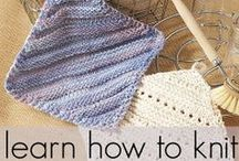 Free Knitting Patterns for Beginners / If you're just learning how to knit or looking to brush up on a few fundamentals, this list of free knitting patterns for beginners is a great place to start. Learn how to knit with these easy knitting projects tailored for beginners.  / by AllFreeKnitting