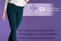 """#NYDJ4OCRF / During the month of September, we will donate $10 to Ovarian Cancer Research Fund from the sale of every NYDJ Jade Legging in Dark Teal purchased on www.nydj.com.  Shopping in-store? We will donate $1 from every NYDJ try-on at Nordstrom stores as well!  Our """"Fit to Cure"""" program will donate $50,000. Spread the pledge and help us find a cure for Ovarian Cancer! / by NYDJ"""