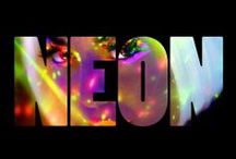 color | neon / by Pam Joseph @ICouldSoMakeThat