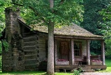 LOG CABINS/HOMES EXTERIORS (also old wooden homes) / Log cabins/homes, and old wooden homes, old and new. / by Debbie Dumont