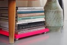 bookshelfs and books / by Carolina Bellenger
