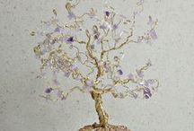 Making wire trees / wire and gem trees / by RoseMarie Putnam