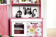 DIY play kitchen / gathering ideas for making a play kitchen / by C Brown