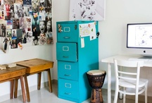 interiors // work spaces / interior design inspiration - office, work space, project room / by Jane Bruner