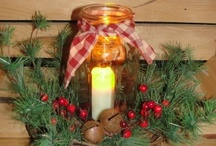 Mason Jars ~ Holidays ~ Christmas Creations / by Linda S