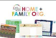 home & family organization / by erincondren.com
