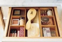 Get Organized / We all have drawers that are overflowing with beauty products. Here are some creative and cute ways to keep all your favorite items in one place! / by Avon Insider
