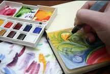 Water-colour Tuts and Tips and other painted things / A place for all those painting tutorials and tips and tricks and inspiration I someday want to try / by BooLand Designs