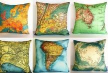 Mapas y lugares / Mapas, planos y sitios reales / by Alicia
