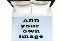 Add your own Image to Home Products / Add your own image or photo to great Home Products from Cafepress, pillows, bedding, aprons, shower curtains, serving trays and a lot more.  cafepress.com/addyourownimage / by The Tshirt Painter