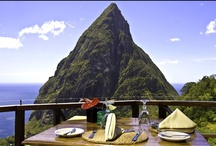 St. Lucia - Caribbean / Where can you wake up to a symphony of birds and drive through a volcano? Only on St. Lucia island. St. Lucia stands apart from the rest of the Caribbean islands thanks to its varied landscape and diverse culture and cuisine, which is distinguished by African, Indian, Caribbean, British, Spanish and French influences.  / by RumShopRyan - Caribbean Blog