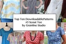 GRAINLINE STUDIO SCOUT WOVEN TEE / Scout Woven Tee from Grainline Studio - Top Ten Downloadable Sewing Patterns fro 2013 / by Pink Chalk Fabrics - Modern Quilt Fabric and Sewing Patterns