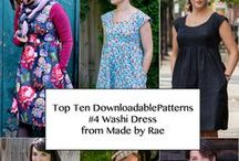 MADE BY RAE WASHI DRESS / Washi Dress Pattern from Made By Rae - Top Ten Downloadable Sewing Patterns for 2013 / by Pink Chalk Fabrics - Modern Quilt Fabric and Sewing Patterns