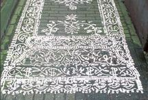Stenciled Concrete Patio Floors / Concrete patios and floors stenciled and pretty. / by Susan Cohan