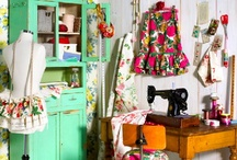 sewing room ideas / Inspiration for my sewing/crafting room (my future crafting sanctuary) / by Fiona Holden-Cameron