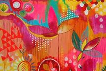 Oh the Colors - Art / Oh do I LOVE COLOR!!! / by Lisa Negri