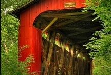 COVERED BRIDGES / LOST TOO MANY OF THESE BEAUTIFUL BRIDGES OVER TIME / by Jackie Walmer
