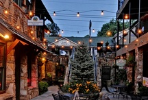The Downtown Blue Ridge Experience / Downtown Blue Ridge offers chic botiques, antique shops, wineries, ice skating, upscale restaurants, and much more.  Our cabins are only minutes away from downtown Blue Ridge. / by Mountain Top Cabin Rentals
