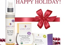 Happy Holiday!!! / It's The Most Wonderful Time of the Year,  They'll be Organic Products for Selling, GlutenFree Recipes for Sharing, Good Ideas for Celebrating throughout the Holiday with Cheer. Cause it's the Most Wonderful Time of the Year. Lovely Is As Lovely Does / by Lovely Lady Products