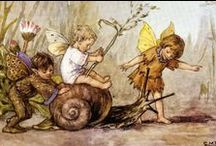 Fairies, Wee Folk and the Man in the Moon / vintage illustrations of fae and luna / by Laura Cornell Baldwin