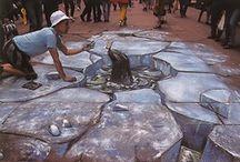 Sidewalk chalk and Street Art masterpieces / by Edie Blough