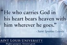 Ignatian Quotes / Inspirational thoughts from Saint Ignatius Loyola, founder of the Jesuits. Like these quotes? Find out more about SLU's Jesuit mission: at www.slu.edu/x844.xml