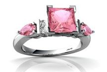 THE RING I WANT / IF I ever get married again, this is the ring I want. Yes it is big, and it's pink and I LOVE it / by Marti Gardner