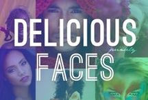 """Delicious Faces / """"Every face is... a picture feverishly turned."""" - Virginia Woolf / by Princely H. Glorious"""