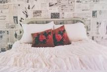 Bedroom / Beauty sleep and prayer happens in bedrooms, they should be pretty. / by Lindsey Greene