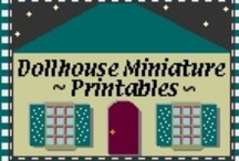 A Mini Printables Page / Printable images for making dollhouse miniatures. / by Nina Eary