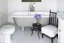 Bathrooms / Clean..white...fresh / by Mary Emmerling