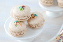 Macarons and Petit Fours / Macarons, Macaroons, Meringues, and Petit Fours  / by Lydia Cross
