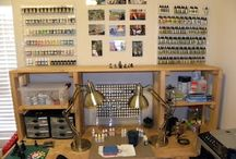 Miniatures - workspaces / Ideas for the best workspaces and game rooms  / by Rai Reed