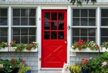 Entryways / Inside and outside entryway inspiration.  / by The Speckled Dog