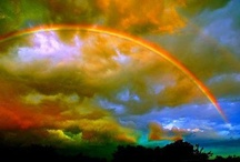 """Rainbows a sign of Hope! / """"I have set my rainbow in the clouds, and it will be the sign of the covenant between me and the earth"""" God / by Lilly Gonzalez"""