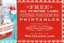 Ready, set, print - FREE / We share with each other - and give credits where needed.  / by Little Cottage Shoppe