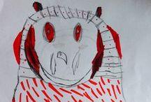 Zus&ik Child-art  / Dit is wat onze kinderen gemaakt hebben. This is what our children made. / by Anne van Twillert