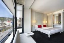 Rooms / Most of our 50 rooms have views of the magnificent Guggenheim Museum.  / by Hotel Miró Bilbao