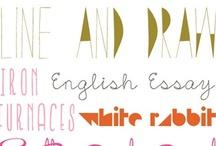 fonts / by Jenny Boster