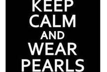 """Mis perlas """"clasicas""""  con estilo actual ;) / Perlas!!!  mi nueva pasion !!! joyas de estilo moderno y actual para lucir las tradicionales perlas. / by Marta Maria Allen"""