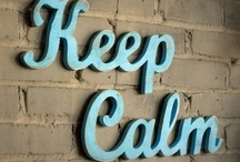 Keeping Calm / A British ministry was charged in 1939 to produce posters for the purpose of preserving morale during WWII ~ required to be similar in style & font, have bold colors, & feature King George VI's crown. The first 2: 'Your Courage, Your Cheerfulness, Your Resolution will Bring Us Victory' & 'Freedom is in Peril' were posted across Britain. The plan to issue a third & final ('Keep Calm & Carry On') only if Germany invaded never happened. There's no record of the Civil Servant who penned the motto. / by Barbara Ford