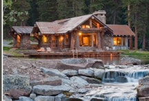 DREAM HOMES-LOG CABINS / by Donna Lucas