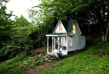 DREAM HOMES-LITTLE OR SMALL UNIQUE HOMES / by Donna Lucas