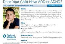 ADD/ADHD News and Research Studies / Find news and research studies (or clinical trials) about ADD/ADHD from Cincinnati Children's. / by Cincinnati Children's Clinical Research Studies