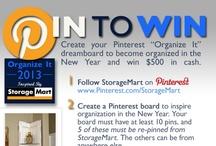 Organize It / #StorageMart and #OrganizeIt / by Patti Williams