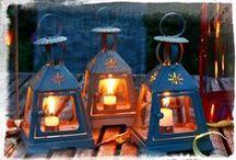 Lanterns and candleholders / Lucerny a svícny / by Almara Shop